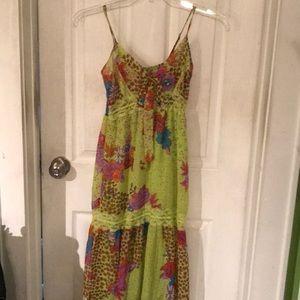 Floral Sheet Tiered Maxi Dress